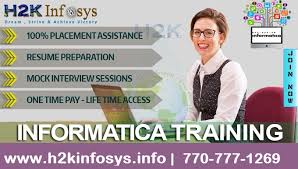 Informatica Training provided by H2K Infosys
